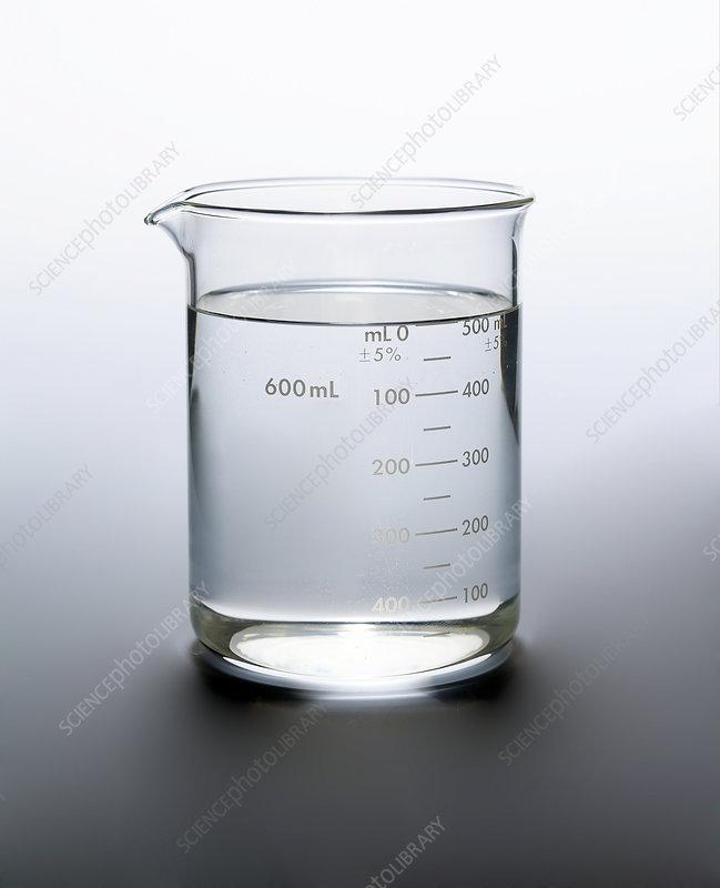 Water in a 600 Millilitre Beaker