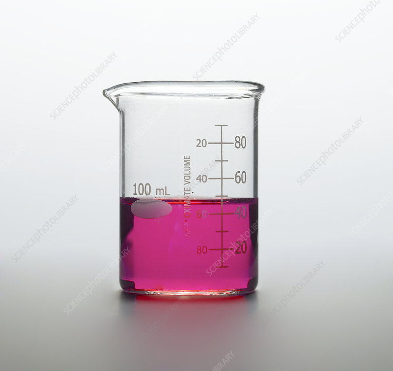Graduated Cylinder with Red Liquid