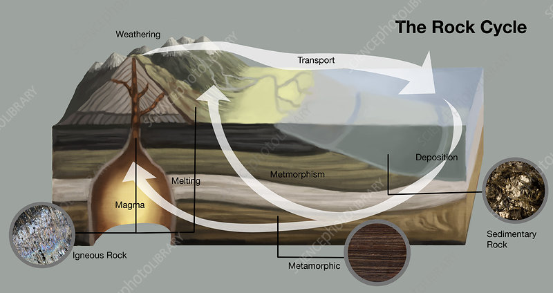 Rock Cycle, illustration