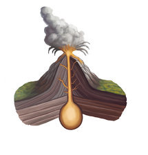 Volcanic Structure, illustration