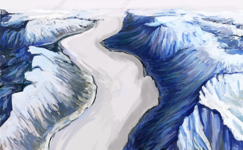 Melting Glacier (1 of 3), illustration
