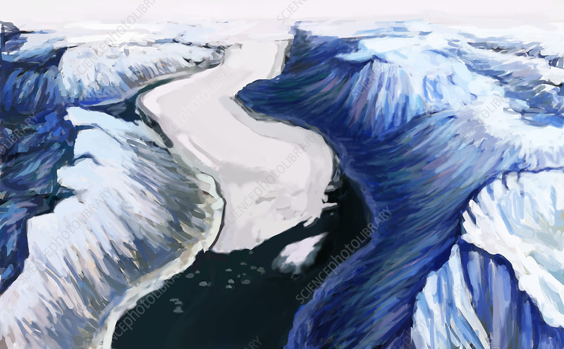 Melting Glacier (2 of 3), illustration