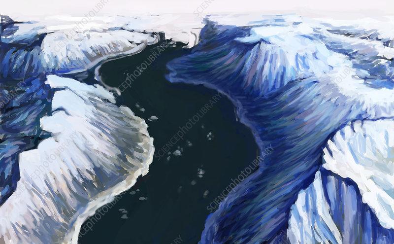 Melting Glacier (3 of 3), illustration