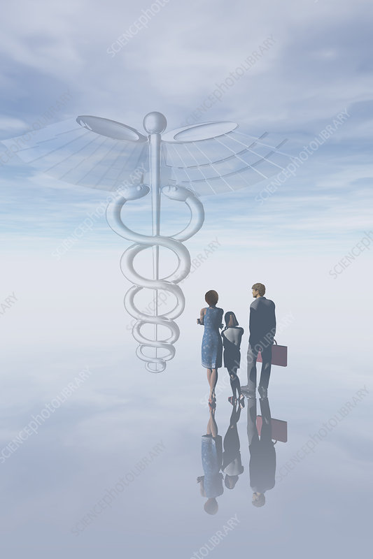 Medical Symbol & Family, illustration