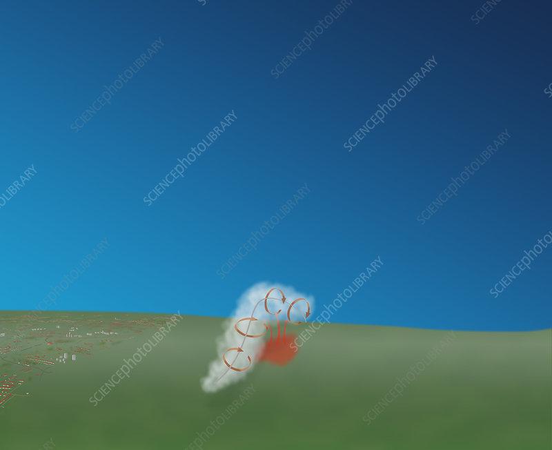 Tornado Formation, 2 of 4, illustration