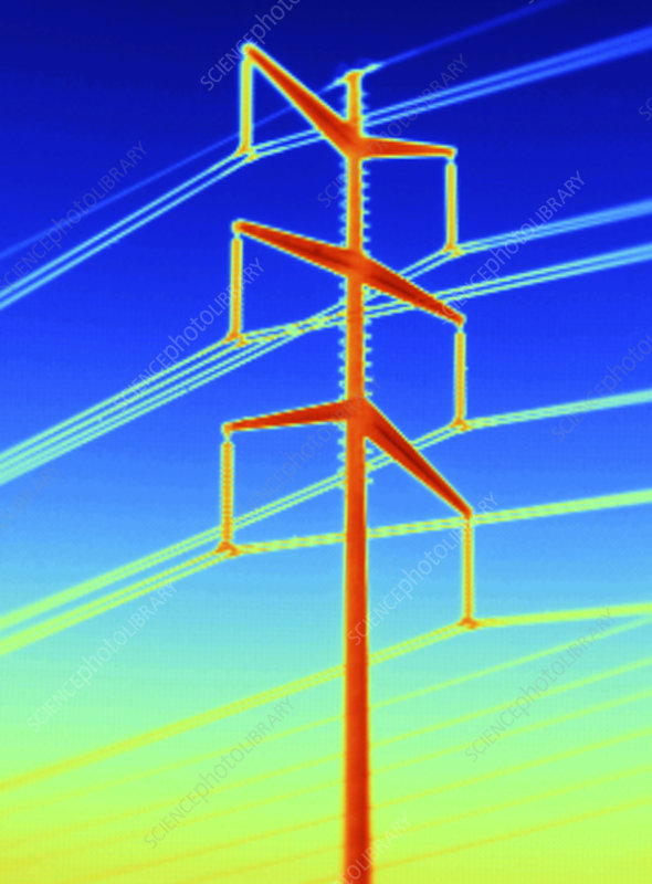 Thermogram of a Transmission Tower