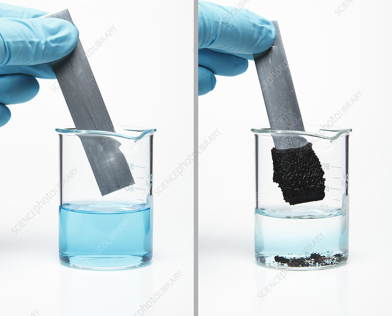 Zinc Reacting With Copper Sulfate