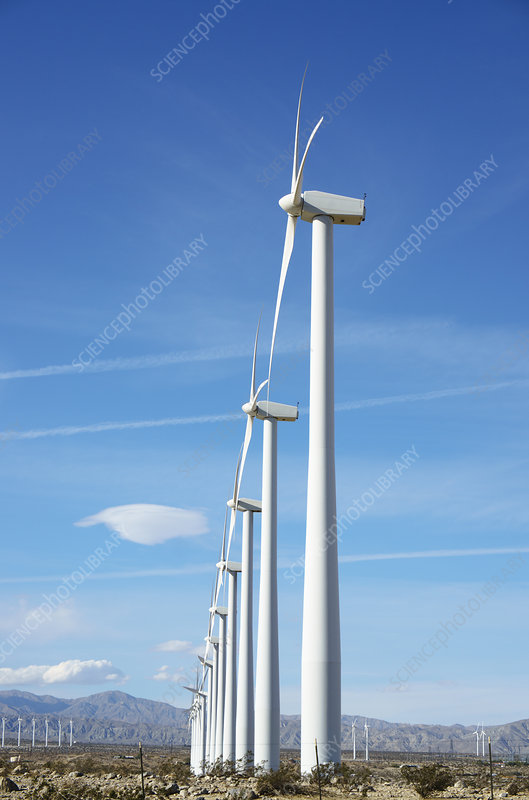 Wind Turbines, California
