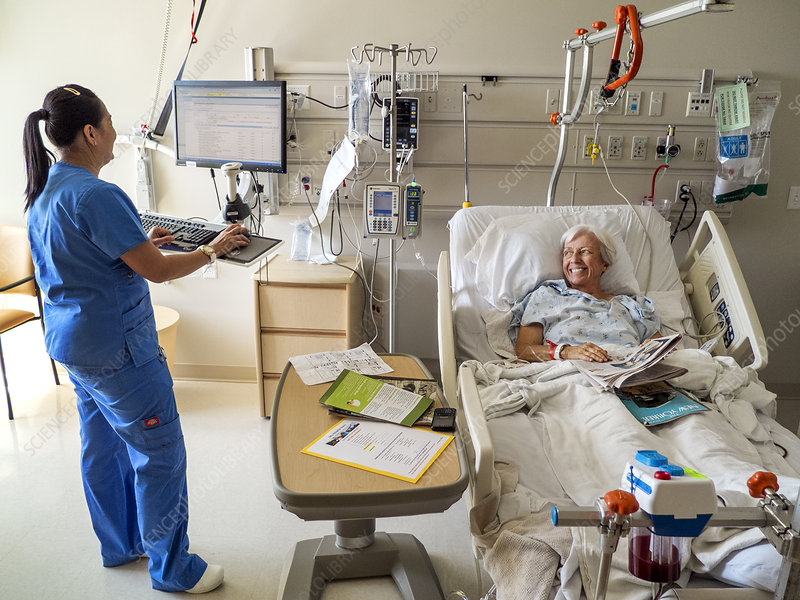 Hospital Patient with Nurse