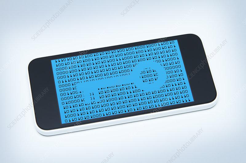 Secure smart phone, illustration