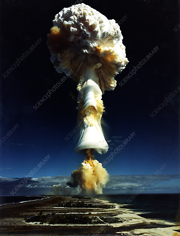 French Nuclear Test LICORNE, illustration