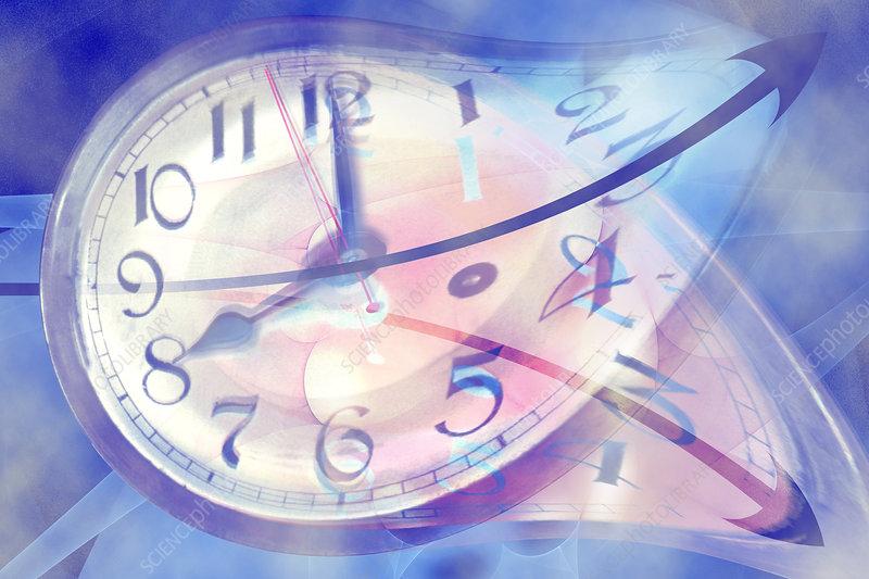 Time Line Split in Two, illustration
