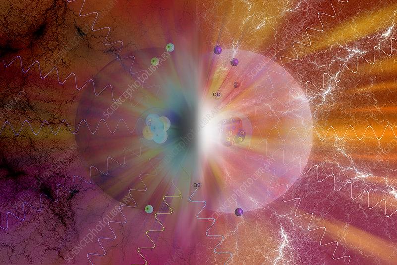 Matter-Antimatter Collision, illustration