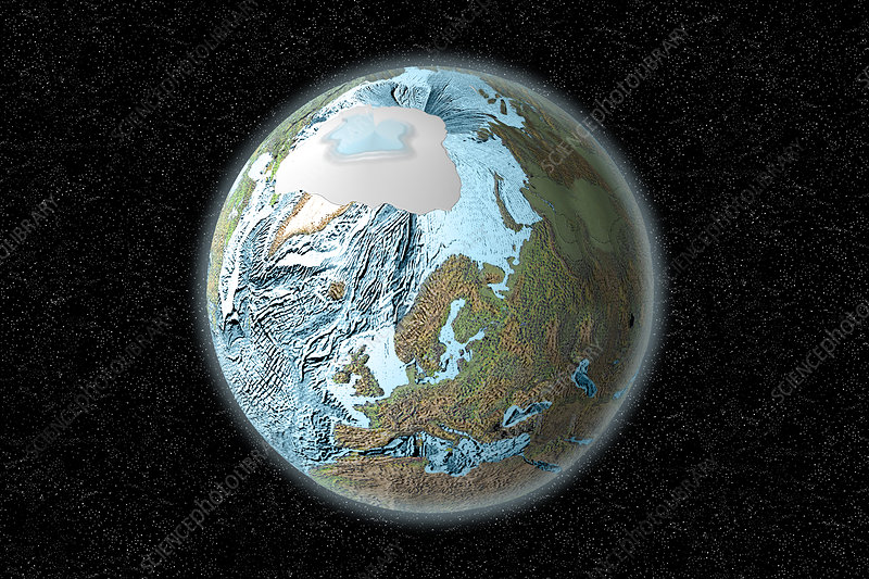 Earth's Artic Ocean, illustration