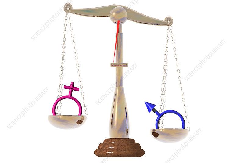 Gender Inequality, illustration