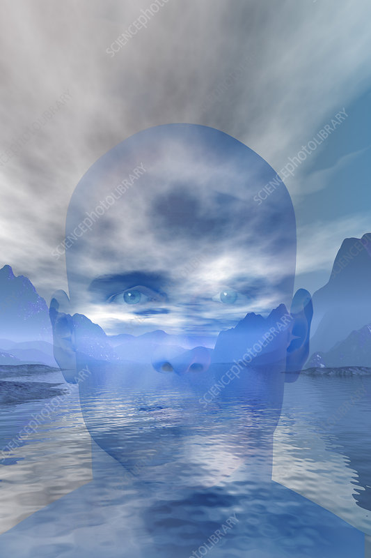 Serenity, Man, Concept, illustration