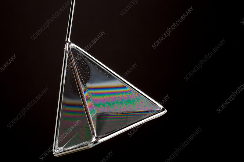 Soap films on a Pyramid