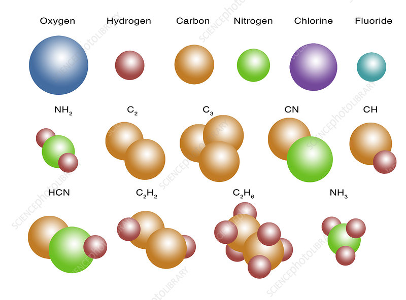 Air Molecules, illustration