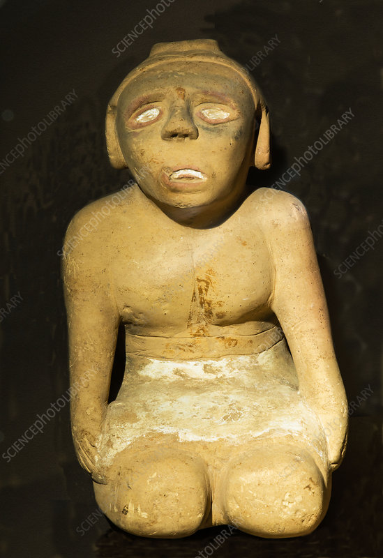 Cherokee Indian Clay Figurine