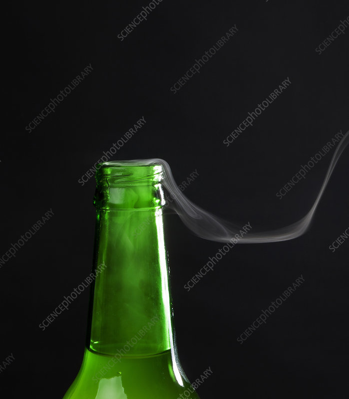 Beer Bottle with Steam