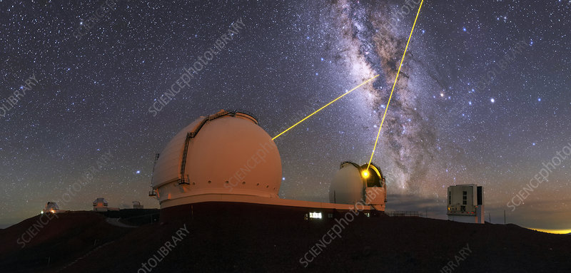 Milky Way over Mauna Kea observatories