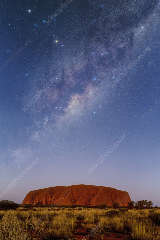 Milky Way over Uluru, Australia