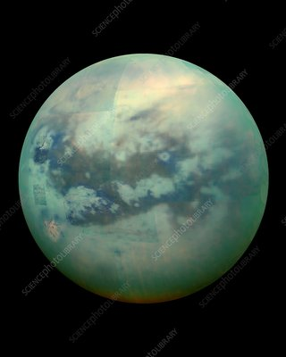 Titan from space, Cassini image