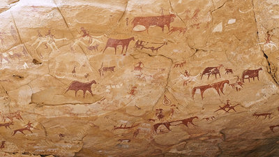 Prehistoric rock paintings, Chad