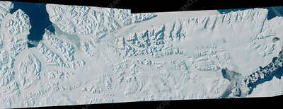 Glacier on Spitsbergen, satellite image
