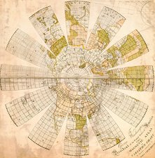 Map of the Northern Hemisphere, 1790