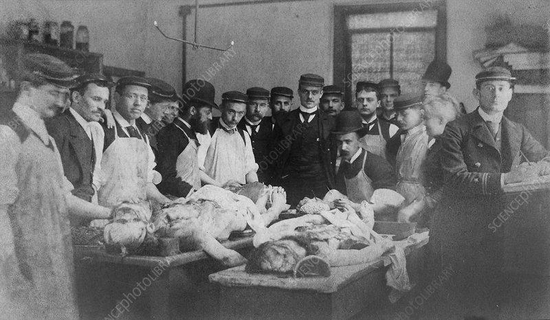 William Osler teaching medicine, 1880s