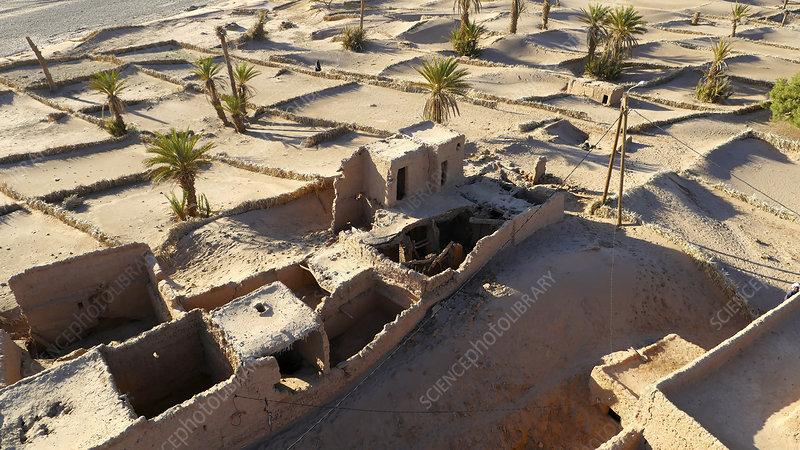 Sand-covered abandoned homes, Morocco