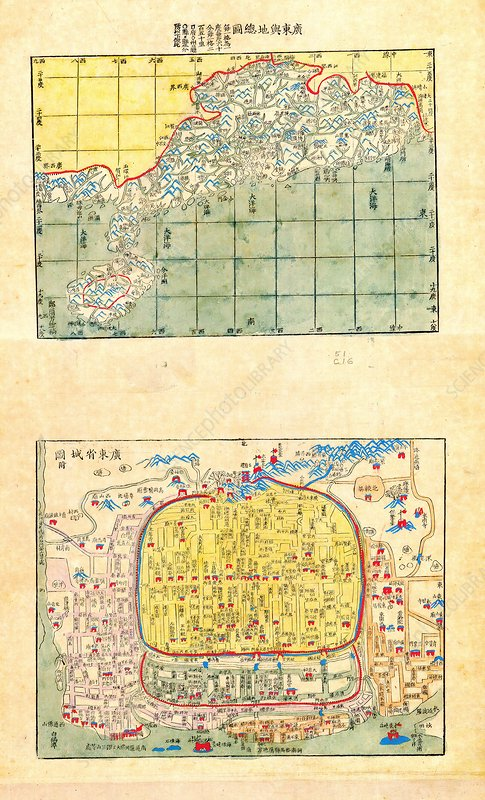 Maps of Canton and Hong Kong