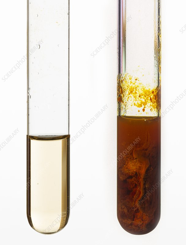 Sodium hydroxide and iron III chloride