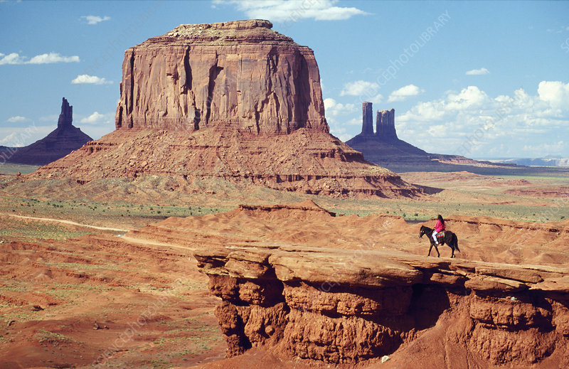 Rider at Monument Valley