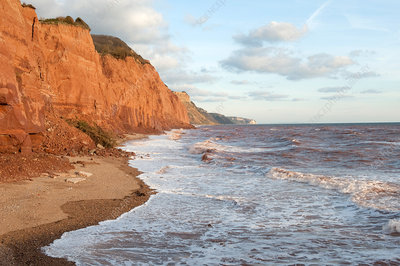East Cliffs at Sidmouth, England