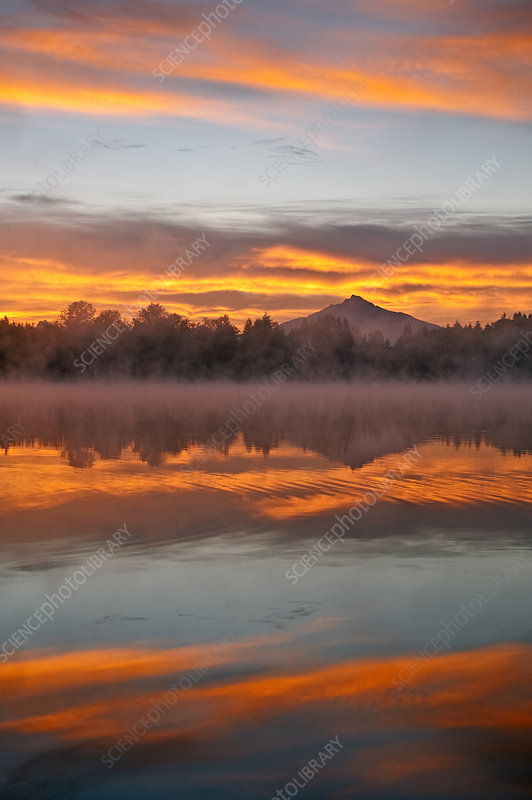 Sunrise and Fog, Lake Cassidy