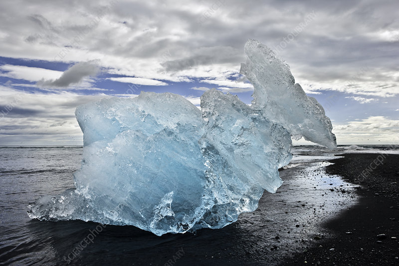 Glacier Ice on Beach