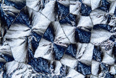 Lactose crystals, light micrograph