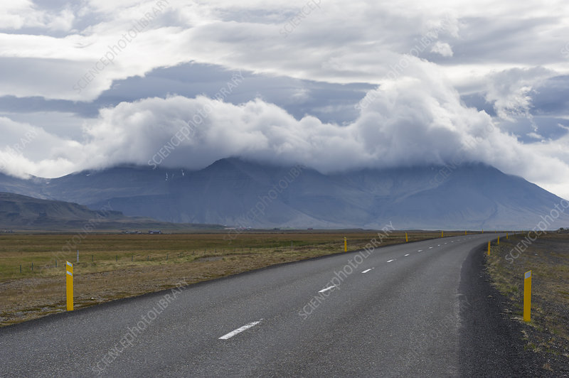 Storm clouds over Iceland
