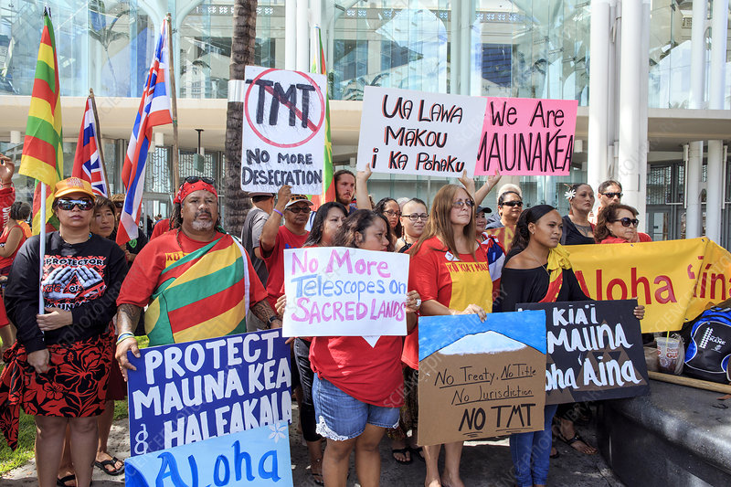 Thirty Meter Telescope protest, Hawaii