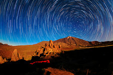 Star trails over Mount Teide, Tenerife