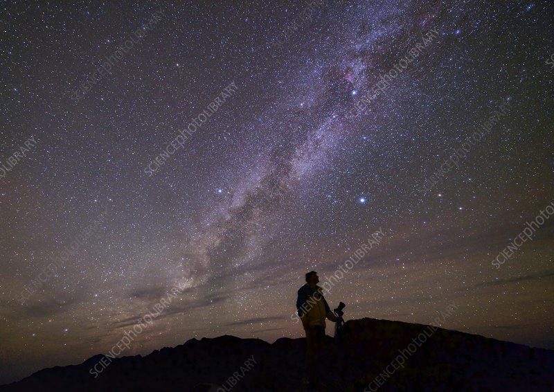 Milky Way and photographer