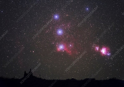 Orion nebulae from the Canary Islands
