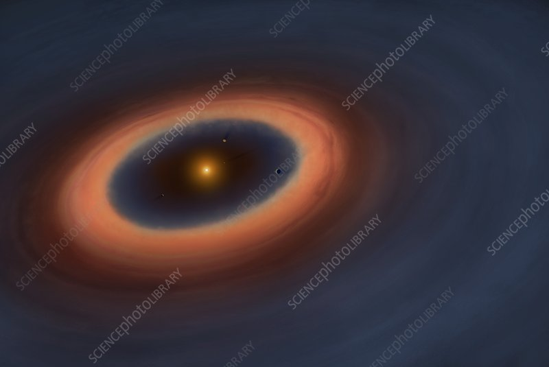 Artwork of a protoplanetary disc