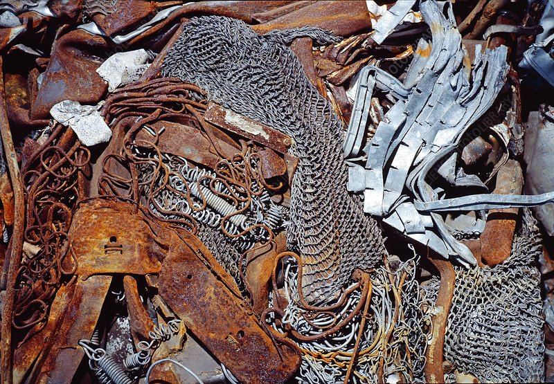 Unsorted metal waste