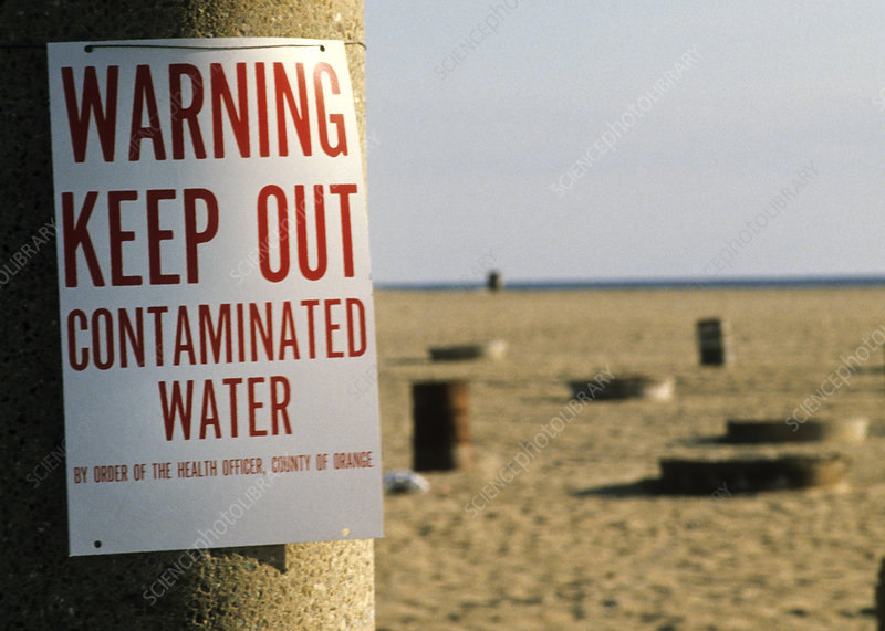 Warning Sign, Contaminated Water