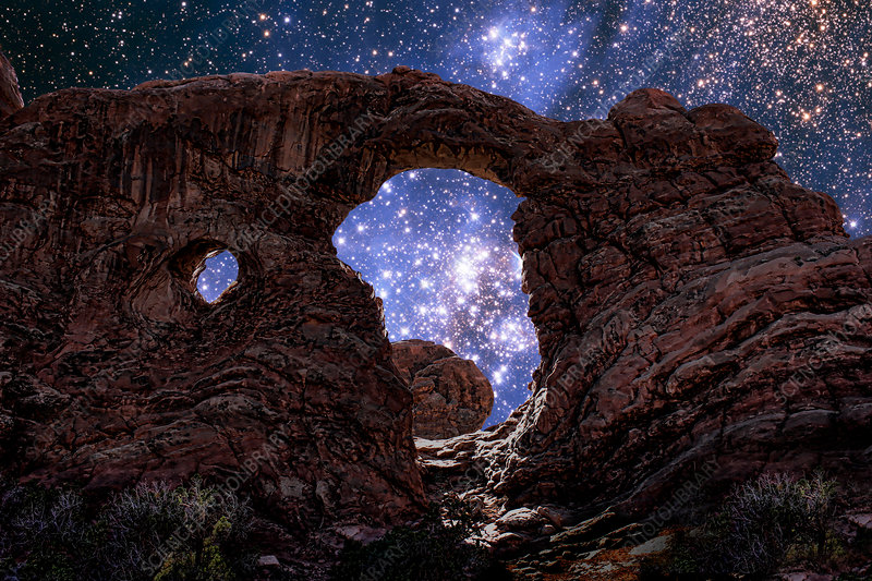 Stars Through Arch