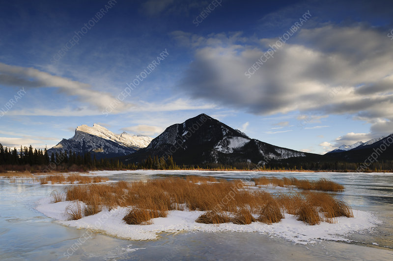 Mt. Rundle and Vermillion Lake