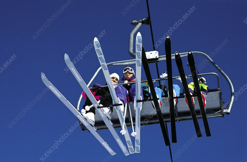 People on Ski Lift